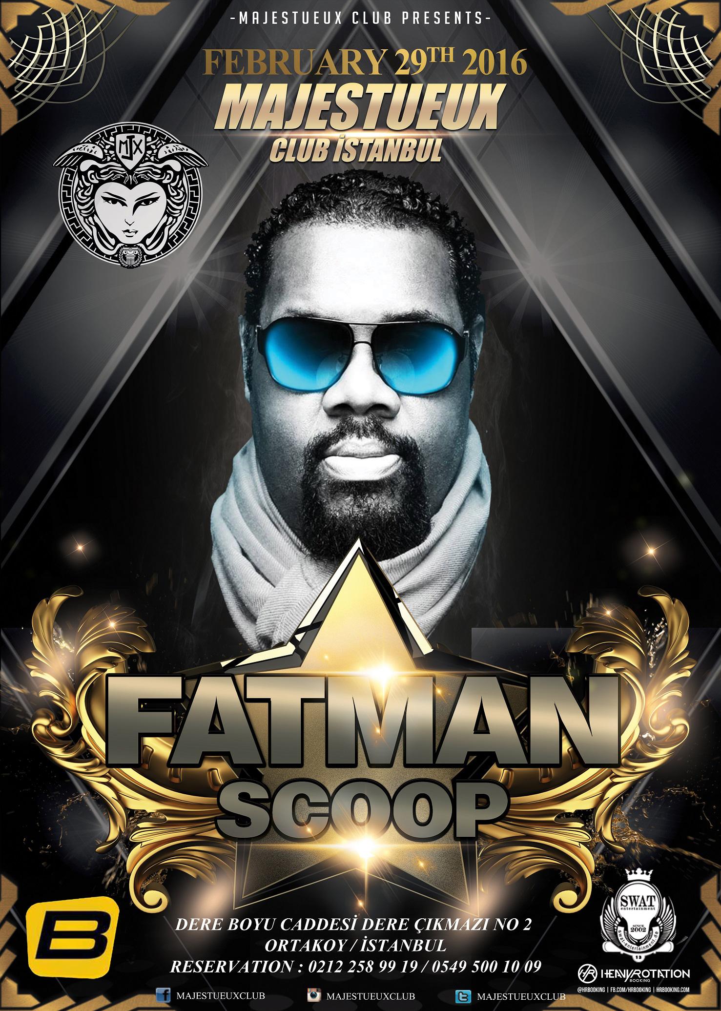 Fatman Scoop konser organizasyonu için İstanbul'da